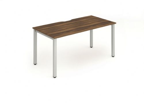 Single Person Bench Desk|Various Frames Available. Beech, Light Walnut, White & Oak Top